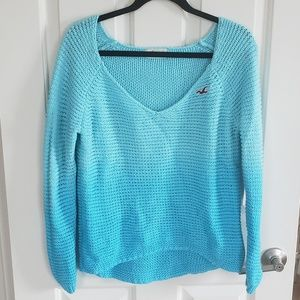 Hollister ombre waffle knit sweater